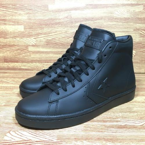Converse PL 76 Pro Leather 76 Mid Triple Black Mens Size 8.5