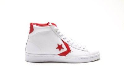 Converse Pro Leather 76 Mid White/Red Men's Size 11 Sneaker