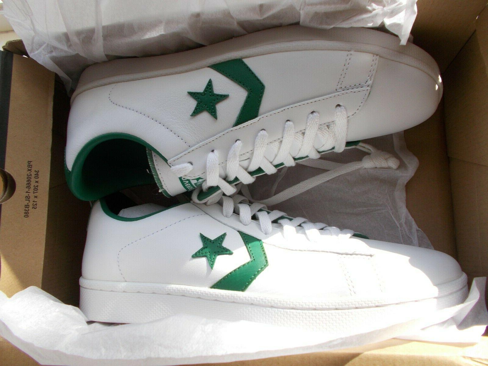 Converse WHITE & GREEN Mens New