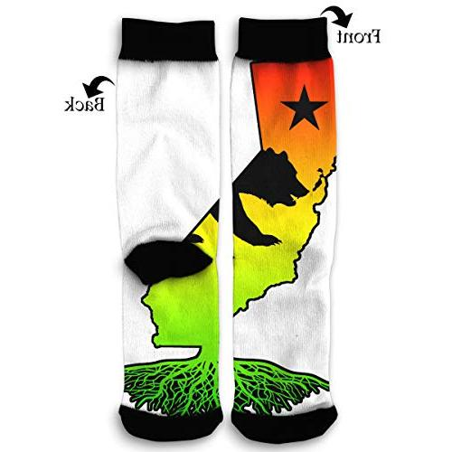 rasta colors california roots classic knee high