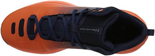 Under Armour Men's Rocket 3 Basketball Shoe, Cadet /Explosive, 9.5