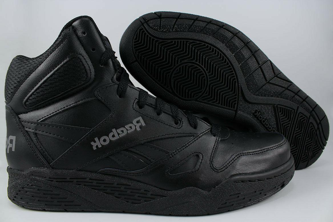 REEBOK ROYAL BB4500 HIGH HI WIDE E BLACK/GRAY CLASSIC BASKET