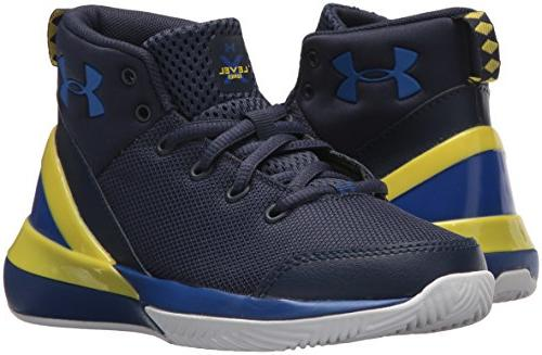 Under School Level Basketball Shoe, Midnight /Taxi,