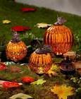 Set of 3 Solar Harvest Garden Pumpkins Outdoor Light Garden