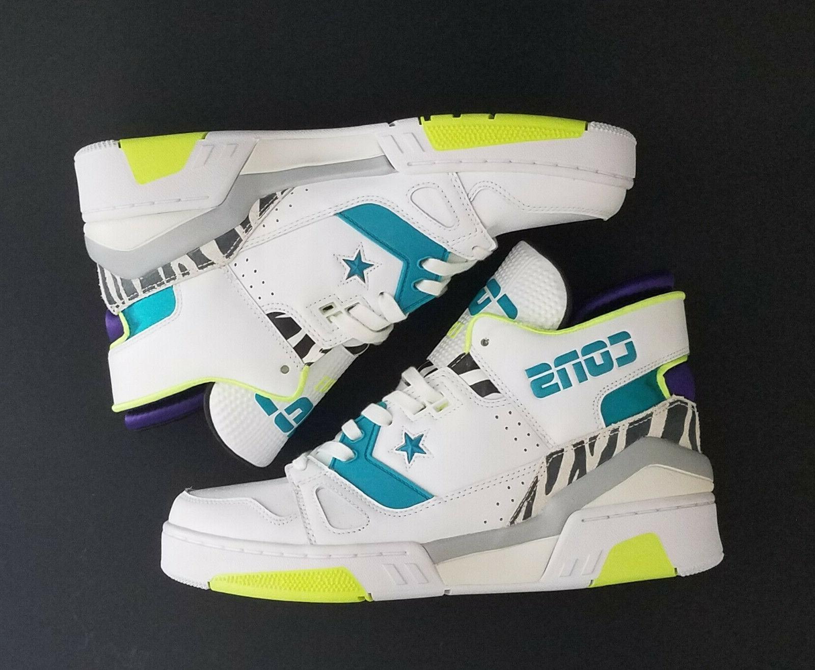 Converse Shoes ERX 260 Sz 9 Men / 10.5 Women White /Teal/Pur