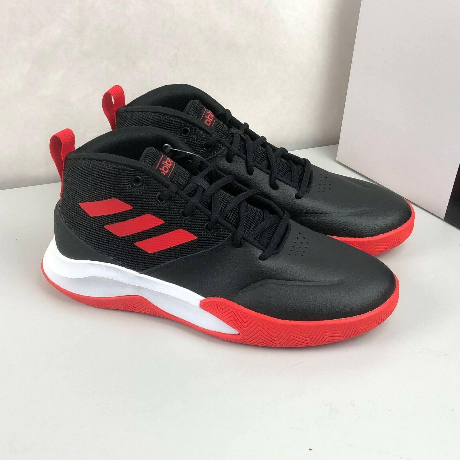 Size WIDE Men's adidas Basketball Shoes EF0746 Black/Active