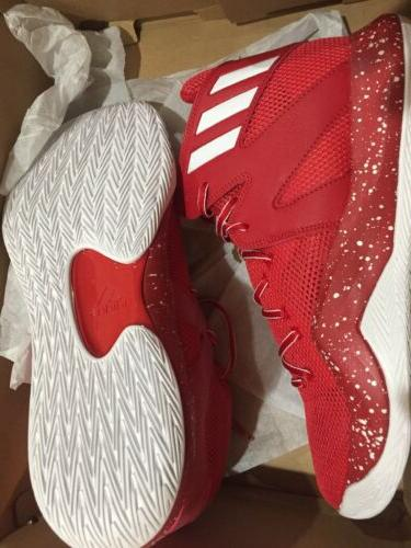 ADIDAS BOUNCE NBA SNEAKER MEN SHOES RED Size 13