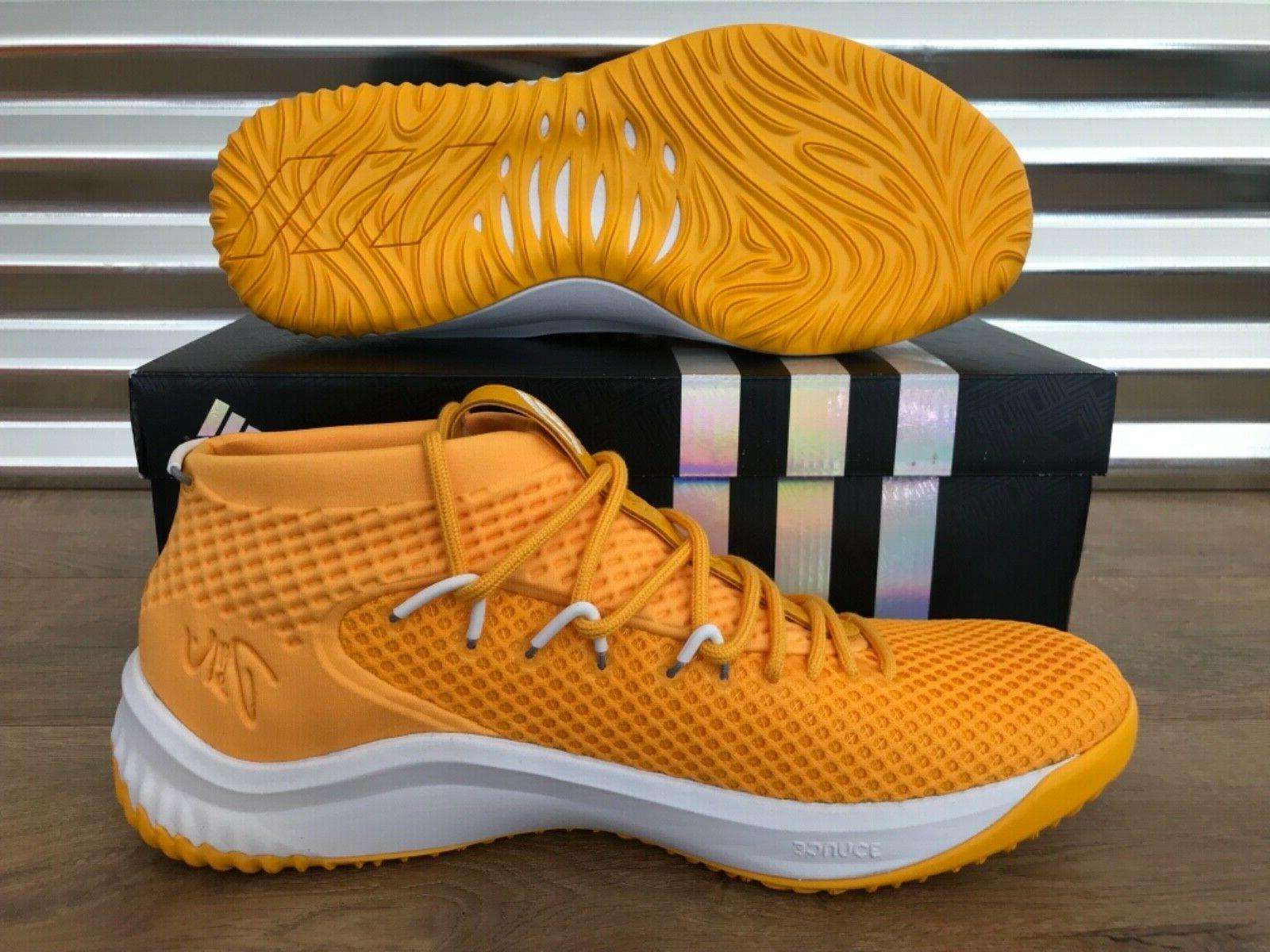 Adidas NBA Shoes Yellow Gold White Lilard NIB