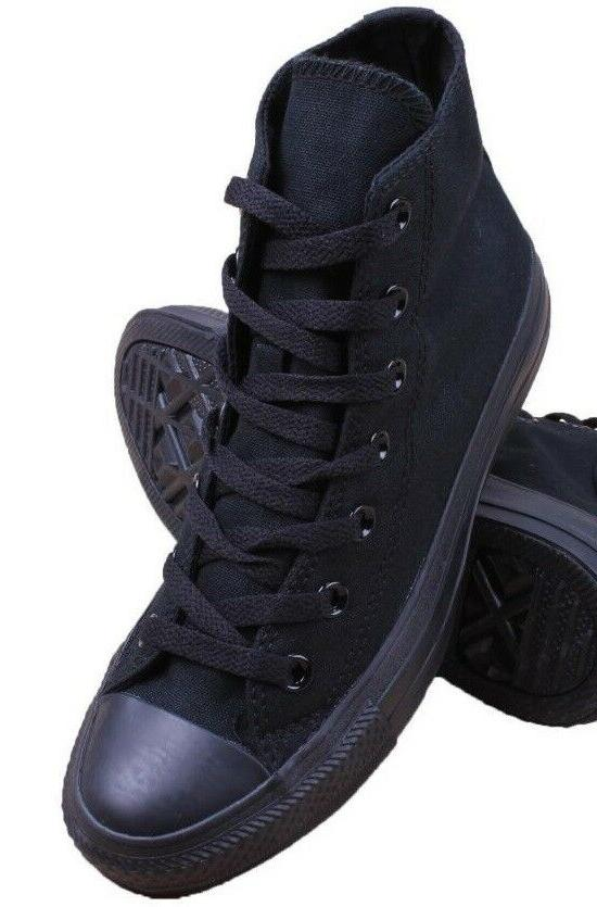 """SNEAKERS CANVAS Mens SHOES BASKETBALL HI TOP 5"""" ALL BLACK SI"""