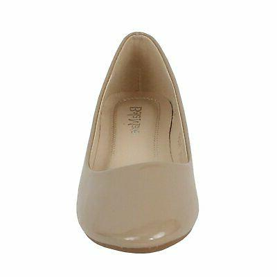 Bella Marie Stacy-11 round toe slip on ballet fla...
