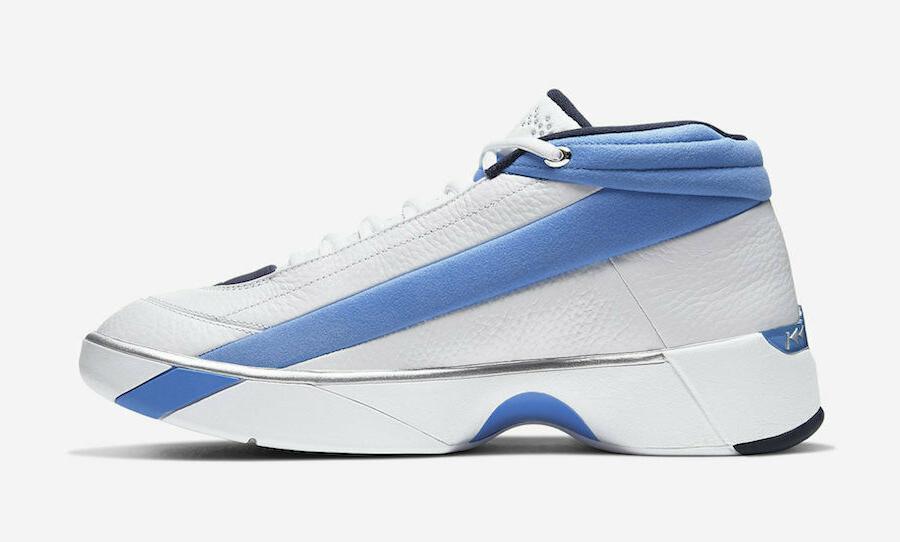 "Jordan Showcase ""UNC"" White Blue Basketball Shoes Men's"