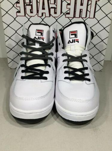 FILA Size White/Black/Gray High Top Basketball Shoes X22-933