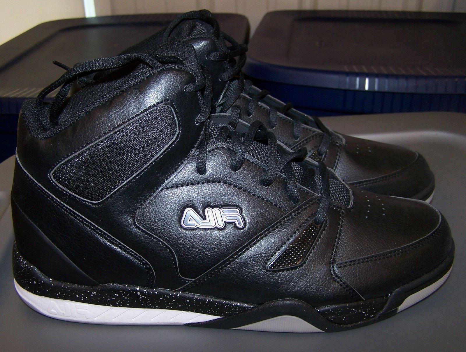 Fila Thunderceptor Basketball Shoes Sneakers High NEW Black Men's size