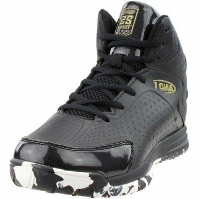 tipoff athletic basketball court shoes black mens
