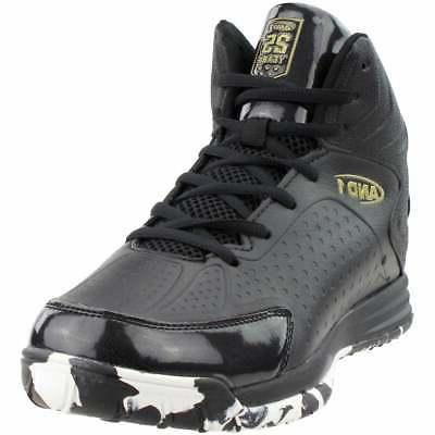 and1 tipoff casual basketball court shoes  black