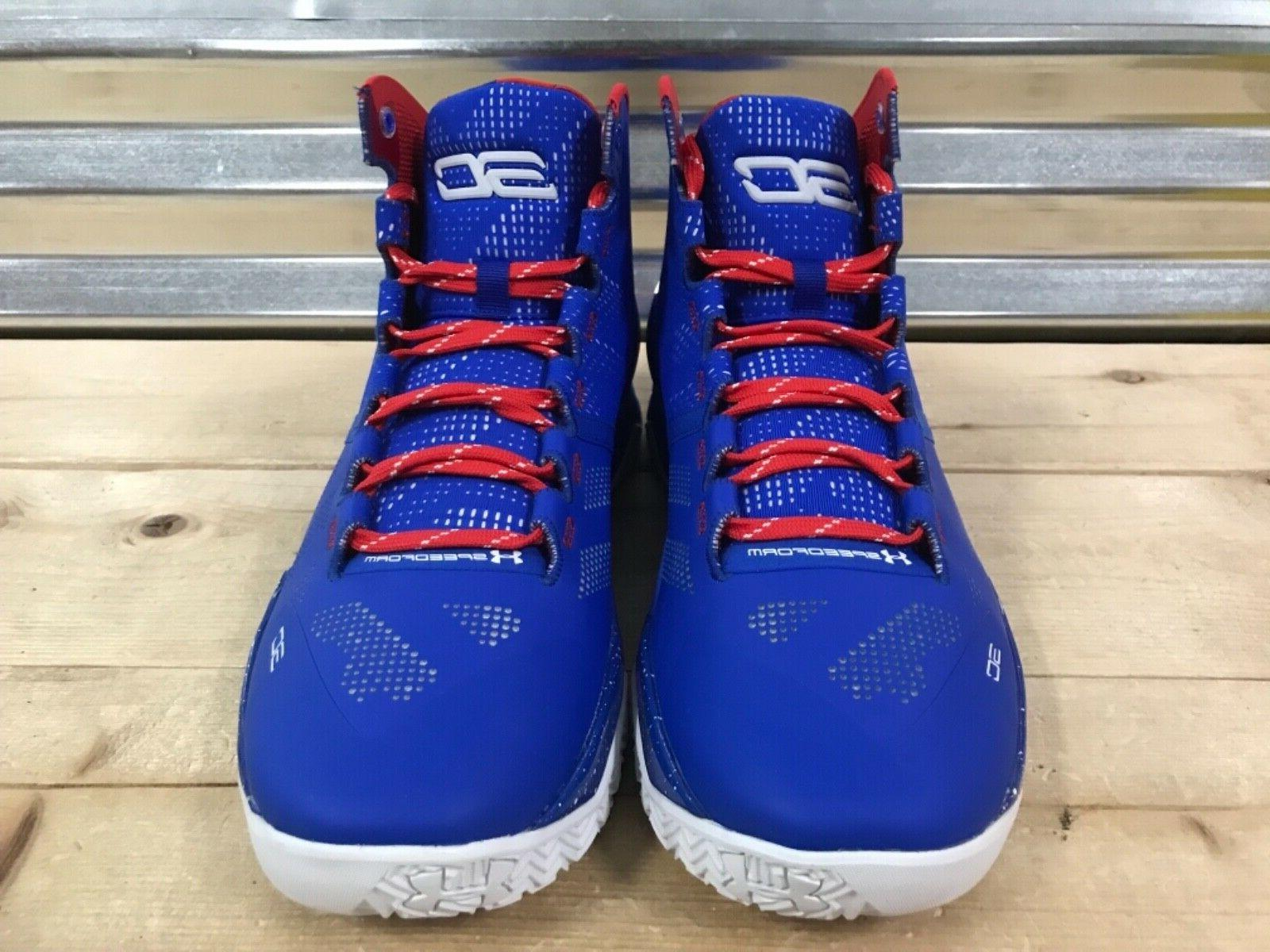 Under Curry 2 Shoes Blue White Red USA