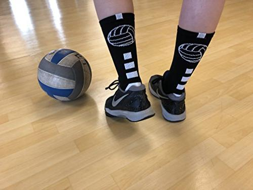 MadSportsStuff Volleyball Logo Socks