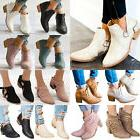 women ankle boots ladies casual mid block