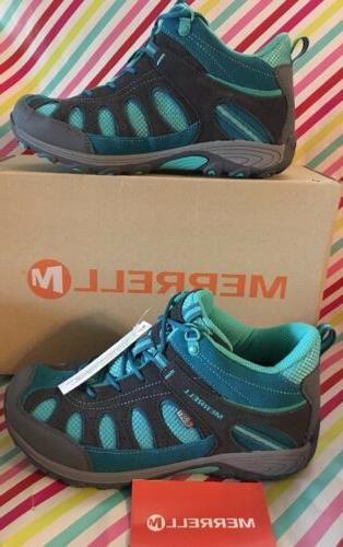 MERRELL WOMENS SHOES CHAMELEON SIZE 6.5 MID LACE TURQUOISE G