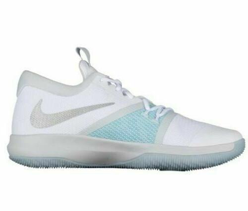 Nike Zoom Basketball Shoes 917505 104 White Glacier NEW