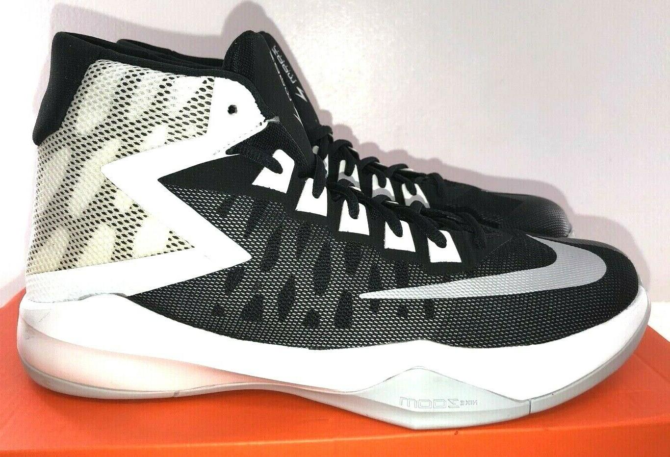 NIKE Zoom Devosion Basketball Shoe White Mesh NWD