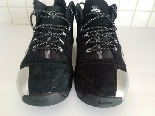 Nike 6 Black Silver Basketball Shoes 002 Size 9