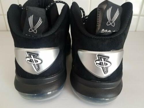 Nike VI 6 Black Silver Basketball Shoes 749629 002 Size