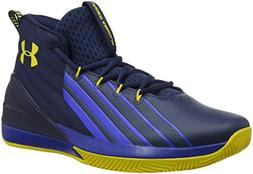 Under Armour Men's Launch Basketball Shoe, Academy /Royal, 8