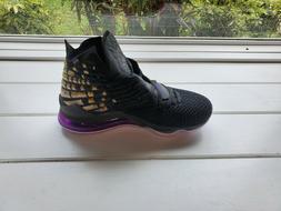 Nike LeBron 17 Men's Basketball Shoes Black/Purple, Size 12