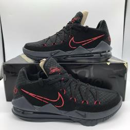 Nike Lebron 17 XVII Low Black Red Bred Men's Basketball Shoe