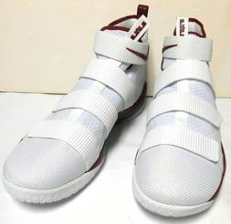 Nike LeBron James Soldier XI ZOOM Basketball White Red 94315