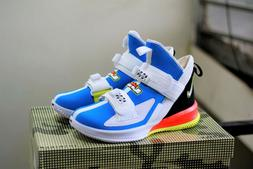 Nike Lebron Soldier 13 New Basketball Shoes White Blue AR422