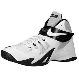 Nike Men's Lebron Soldier VIII tb Basketball Shoes-White/Bla