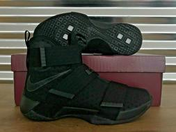 Nike Lebron Soldier X 10 Basketball Shoes Triple Black Space