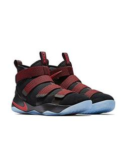 NIKE Men's Lebron Soldier XI Black/Black-Team Red Basketball