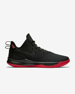 Nike LeBron Witness III Basketball Shoes Black Red BRED AO44