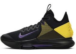Nike Lebron Witness IV Lakers Basketball Black Purple Yellow