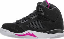 Nike Little Kids Jordan 5 Retro Girls Basketball Shoes