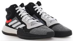 Adidas Marquee Boost Black White Basketball Shoes For Men Si