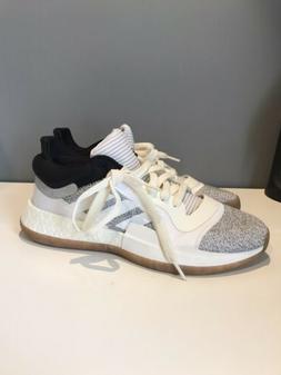 Adidas Marquee Boost Low White/Black/Gum Men's SZ 10 Basketb