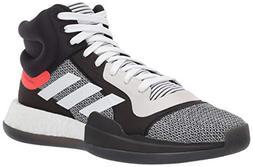 adidas Men's Marquee Boost, White/Black/aero Blue 9 M US