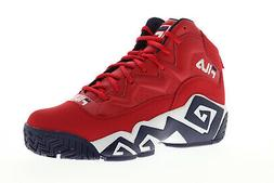 mb mens red synthetic athletic lace up