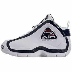 Fila Men's 96 Grant Hill Retro Basketball Shoes White Navy R