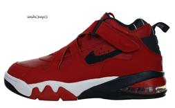 "Nike Men's ""Air Force Max CB"" Red Leather Basketball Shoes M"