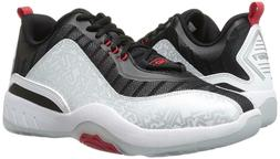 Men's And1® Vertical Silver/Black/Wht/Red Athletic Basketba