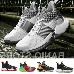Men's Athletic Sneakers Breathable Basketball Boots Sports C