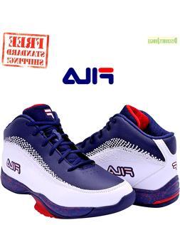Fila Men's Contingent 4 Basketball Sneaker White Navy Red SI