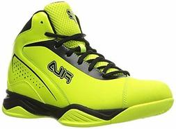 Men's Fila Contingent Basketball Sneakers, Safety Yellow/Bla