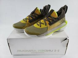Men's Under Armour Curry 7 Basketball Shoes Zeppelin Yellow/