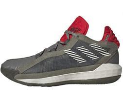 adidas Men's Dame 6 Spitfire Basketball Shoes, Green/Grey/Re